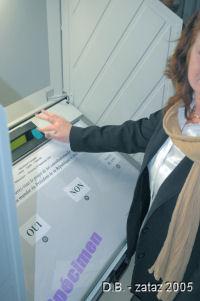 Machine à voter de la ville d'Annoeullin (59).